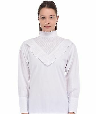White Broderie Anglaise Blouse | Cotton Lane