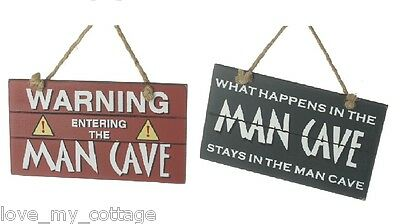 Men's Den Wooden What Happens in the Man Cave Stays in the Man Cave Warning Sign