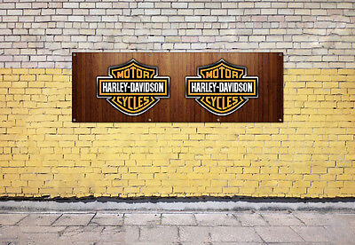 HARLEY DAVIDSON logo sign for workshop, garage, office or showroom pvc banner