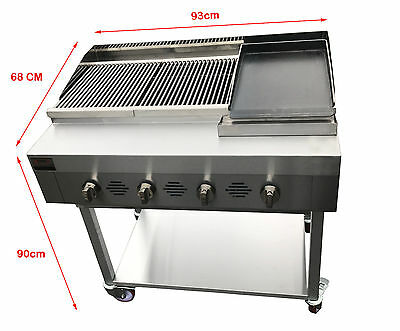 Commercial Charcoal Grill Char Grill BBQ Gas Grill Free Lava Rocks Kebab Grill