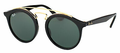 Authentic Ray Ban Gatsby RB 4256 601/71 Black Plastic Sunglasses Green Lens