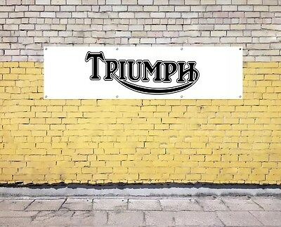 TRIUMPH MOTORCYCLE PVC BANNER -  for workshop, garage, office or showroom