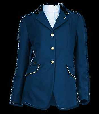 ELT Competition Riding Jacket Blue/Golden Piping 18
