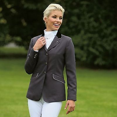 ELT Competition Riding Jacket Blue/Silver Piping 12