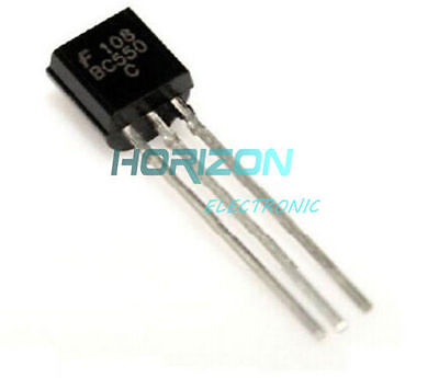 50PCS BC550 TO-92 NPN Low Noise Transistor