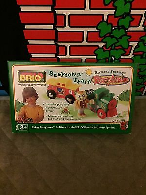 Brio Richard Scarry Busytown Huckle Cat and Train New In Box!