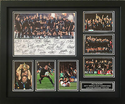 All Blacks 2011 World Cup Signed Limited Edition Framed Memorabilia