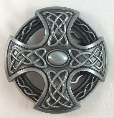 Belt Buckle - Metal - Celtic/viking Shield -  Silver Tone - New