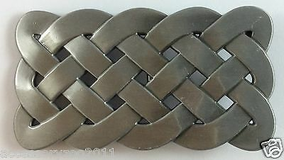 Belt Buckle-Metal- Celtic Knot/viking Design - Silver Tone - Brand New