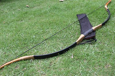MAXIMUM LBS BLACK LONGBOW HANDMADE HORSEBOW TO HUNTING 15-110lbs