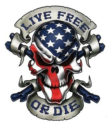 "Embroidered 4"" Live Free Or Die Patch"