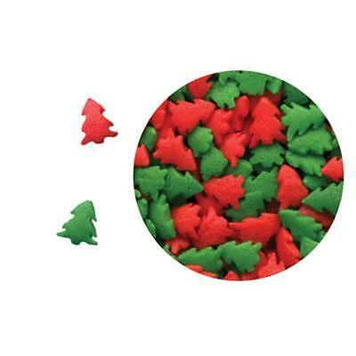 RED & GREEN TREES Edible Confetti Sprinkles 73g -CK Products -cake/cupcake/pops
