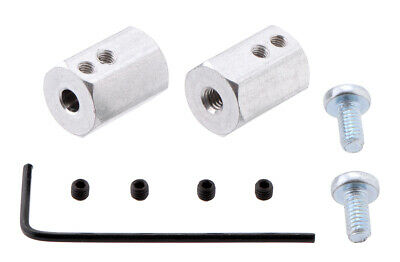 Pololu 12mm Hex Wheel Adapter for 4mm Shaft (2-Pack) 2684