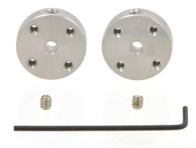 Pololu Universal Aluminum Mounting Hub for 3mm Shaft, #4-40 Holes (2-Pack) 1078