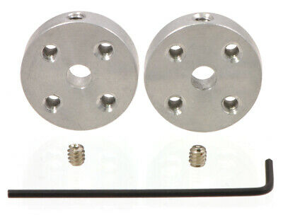 Pololu Universal Aluminum Mounting Hub for 4mm Shaft, #4-40 Holes (2-Pack) 1081