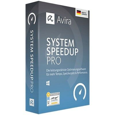 AVIRA System Speedup PRO 2018 * 1 PC * 2 Jahre * DE Lizenz * Vollversion