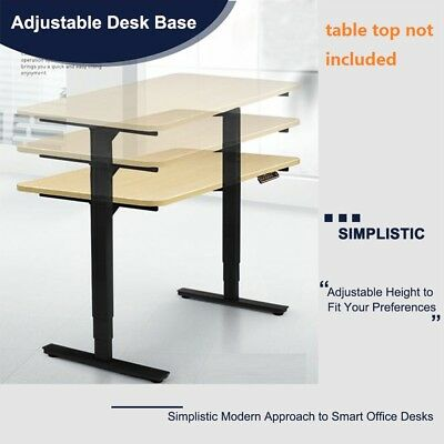 Electric Sit to Standing Height Desk Frame Dual Motor Ergonomic Adjustable