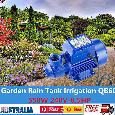 QB60 Electric Peripheral Pump Clean Water Garden Farm Rain Tank Pond Irrigation
