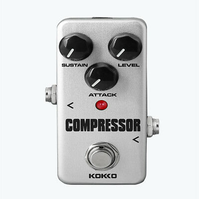 Professional Guitar Mini Effect Pedal Compressor with True Bypass Silver