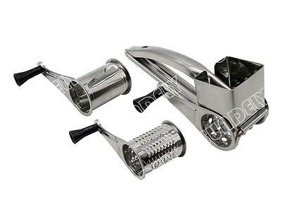 NEW! Kitchen Craft Stainless Steel Hand Held Rotary Cheese Grater Shredder