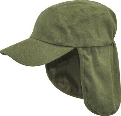 ARMY LEGIONNAIRES HAT Mens Olive cotton sun cap travel camping hiking neck flap
