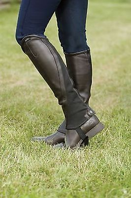 Elt Elegance Half Chaps Brown Large Leather Imported From Germany