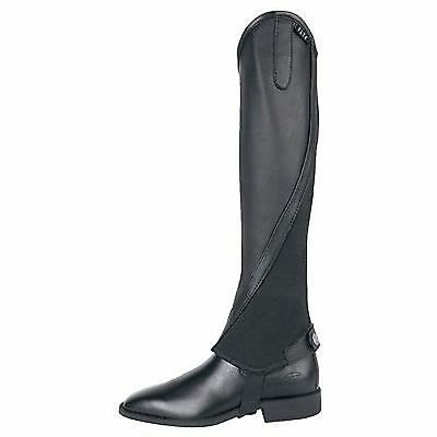 Elt Half Chaps Black XSmall Leather Imported From Germany