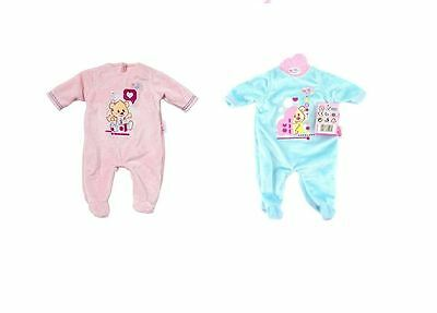 Zapf Creation Baby Born Sleep Well Romper Baby Doll Outfit Pink / Blue