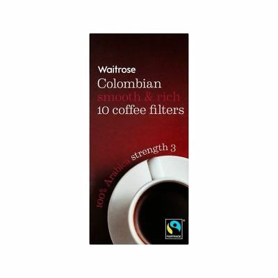 Colombian Individual Coffee Filters Waitrose 10 per pack