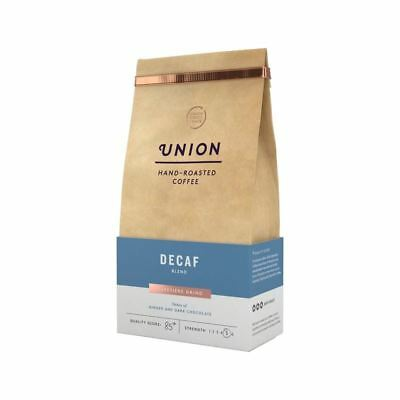 Union Coffee Dark Roast Decaf Cafetiere Grind Blend 200g