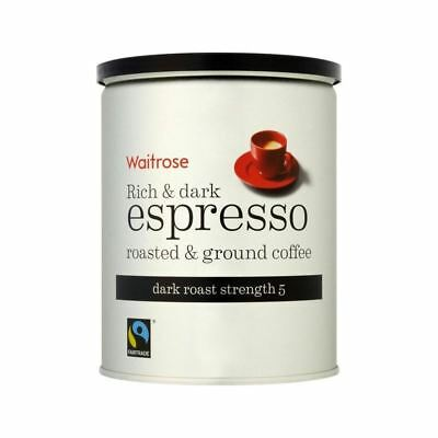 Espresso Roasted & Ground Coffee Waitrose 250g