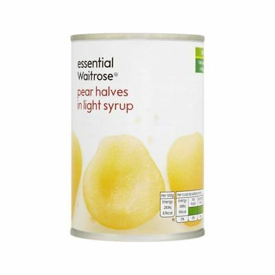 Pear Halves in Light Syrup essential Waitrose 411g