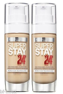 Maybelline New York Superstay 24H Make-Up 30 Sand ,40 Fawn ,48 Sun Beige 2x30ml