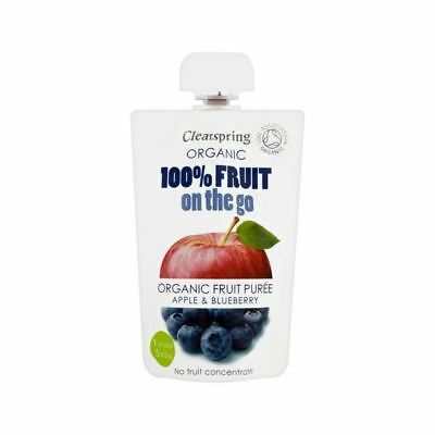 Clearspring Organic Fruit Puree Apple & Blueberry 100g