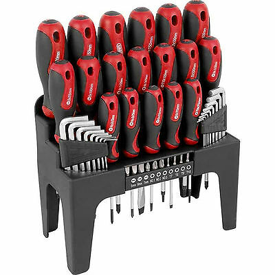 New 44 Pcs Red Screwdriver Allen Key Torx & Bit Tool Set With Storage Stand