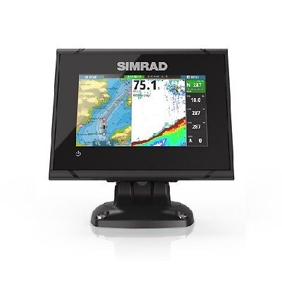 "Simrad 000-12675-001  Go5 Xse 5"" Plotter With Totalscan Transom Mount"