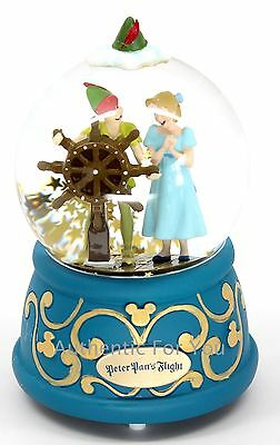 NEW Disney Parks Peter Pan's Flight with Wendy Musical Snow Globe - You Can Fly!