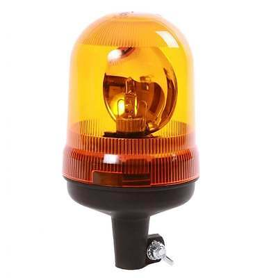 Durite Rotating Amber Flashing Beacon 12V Pole Din Spigot Mount Tractor 0-444-29