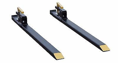 Clamp On Quick Attach Light Duty Pallet Forks for Tractor Skid Steer Bucket