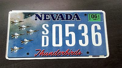 Nevada Nv Thunderbirds F16 Af Air Force Ang Mint License Plate Under 200 Made!