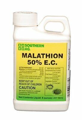 Southern Ag Malathion 50% E.C. 8oz Insecticide Citrus, Fruits, Vegetables, Trees