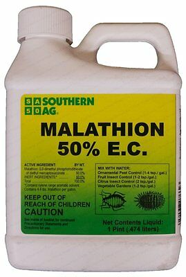 Southern Ag Malathion 50% E.C. 16oz Insecticide Citrus, Fruits, Vegetables Trees