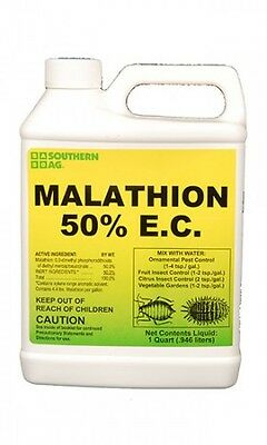 Southern Ag Malathion 50% E.C. 32oz Insecticide Citrus, Fruits, Vegetables Trees