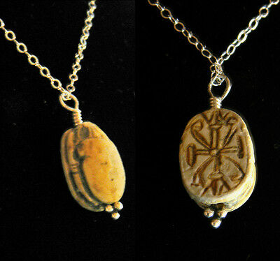Egyptian Scarab Necklace  - Ancient Art & Antiquities