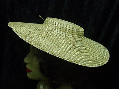 18th-19th century colonial revolutionary war low crown straw hat 15 inches