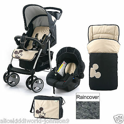 NEW Hauck Disney Classic Mickey Shopper Pushchair Travel System shop n drive SET