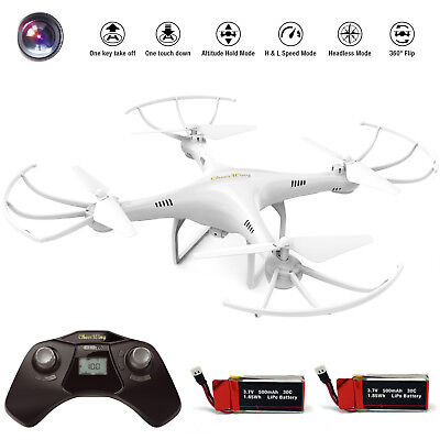 Cheerwing CW4 RC Quadcopter 2.4G 720P HD Camera Drone Headless extra Batteries