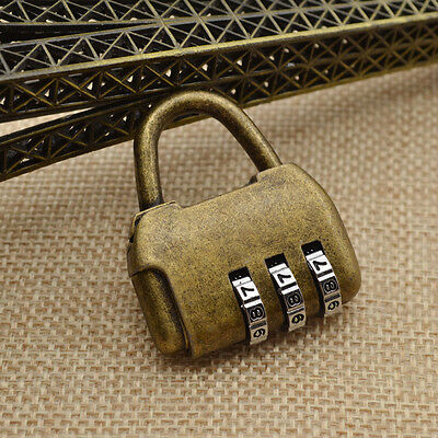 Vintage 3 Digits Password Chinese Old Style Cabinet Lock for Door Closet Padlock • CAD $2.39
