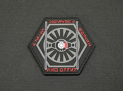 Star Wars TIE Fighter Special Forces PVC Patch First Order Galactic Empire Hook