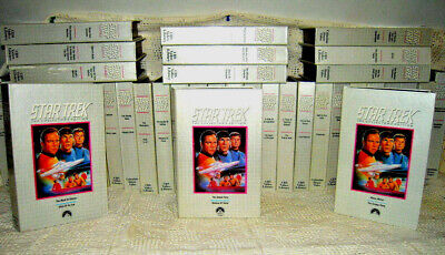 STAR TREK Collectors Edition VHS Tapes - Lot of 38 Tapes - 77 Episodes
